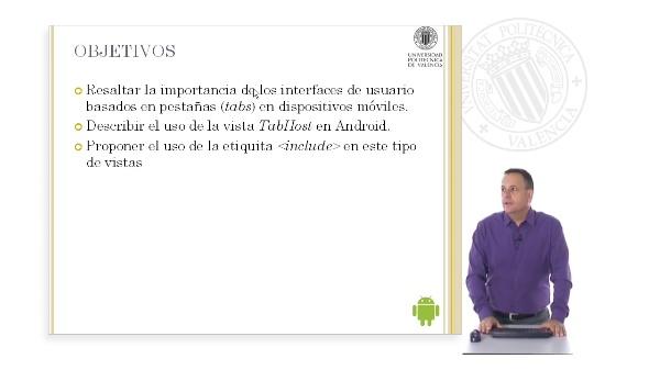 La vista TabHost en Android