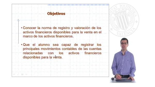 Activos financieros disponibles para la venta