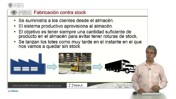 Secuenciación y temporización tardía en sistemas de fabricación contra stock