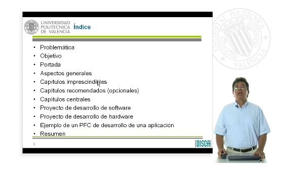 Estructura de la memoria correspondiente al Proyecto Final de Carrera (PFC)
