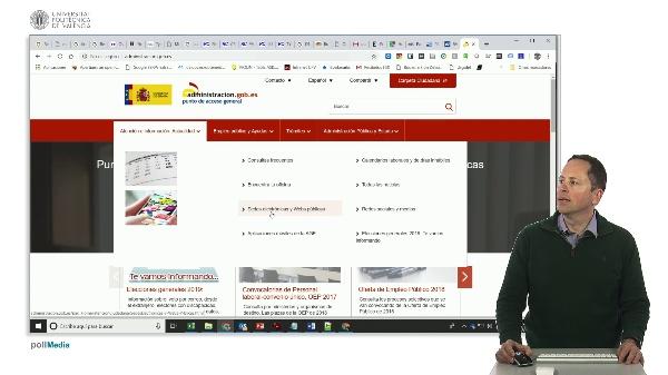 Buscar en Internet. Administración electrónica España
