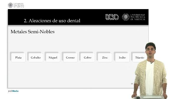 Aleaciones nobles y seminobles para prótesis dentales