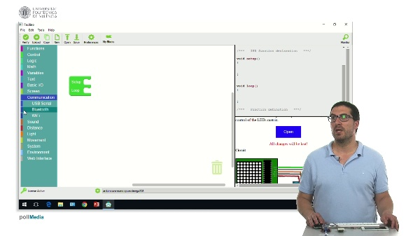 Facilino. Comunicación Bluetooth, recepción de comandos.