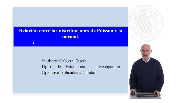 Relación entre las distribuciones de Poisson y la normal