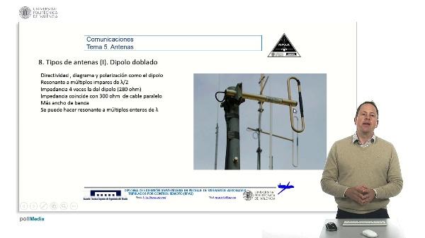 Master RPAS. Asignatura comunicaciones. Antena dipolo doblado