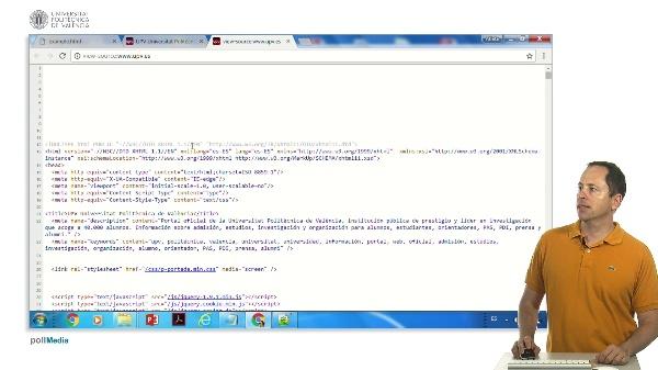 Ejemplo código fuente HTML y uso de inspeccionar código en los navegadores