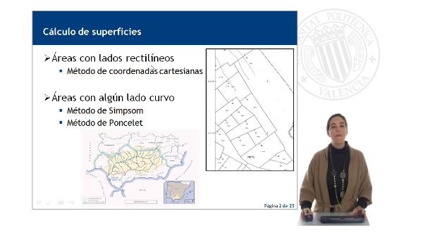 Cálculo de superficies. Método de coordenadas cartesianas