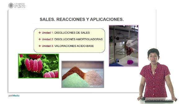 Sales. Reacciones y aplicaciones.