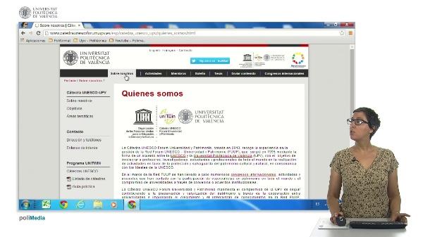 Presentacion Catedra UNESCO Forum Universidad y Patrimonio