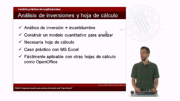 4.5. Análisis de inversiones con hojas de cálculo
