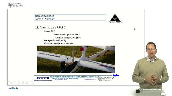Master RPAS. Asignatura comunicaciones. Antenas en RPAS
