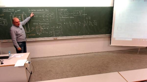 Física 1. Lección 7. Dieléctricos. Capacidad, Carga, Campo