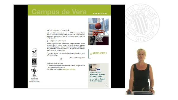 Vicerrectorado de Deportes: Presentación curso 2011-2012