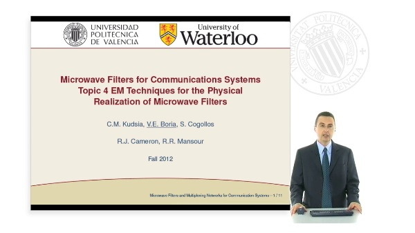 Microwave Filters for Communications Systems Topic 4. EM Techniques for the Physical Realization of Microwave Filters