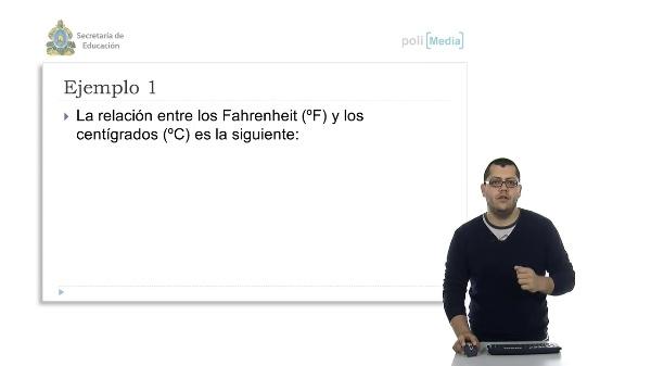 Aplicación de la función lineal estableciendo la relación entre dos expresiones