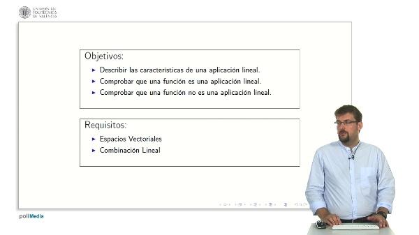 Aplicaciones Lineales: Definicion