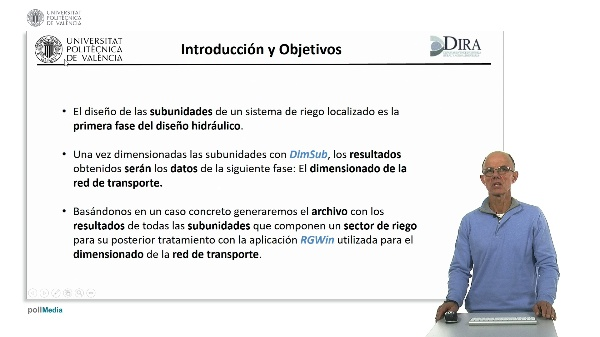 Diseño de subunidades de riego localizado utilizando DimSub. Exportación de resultados de un sector para el dimensionado de la red de transporte.