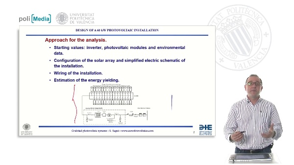 Design of a 60kW photovoltaic installation
