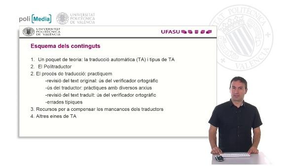 Presentació del taller sobre l'ús del Politraductor i altres traductors automátics