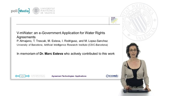 Applications. V-mWater: an e-Government Application for Water Rights Agreements
