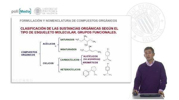 Clasificación de los compuestos orgánicos. Grupos funcionales