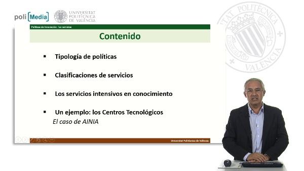 Políticas de Innovación. Los servicios intensivos en conocimiento