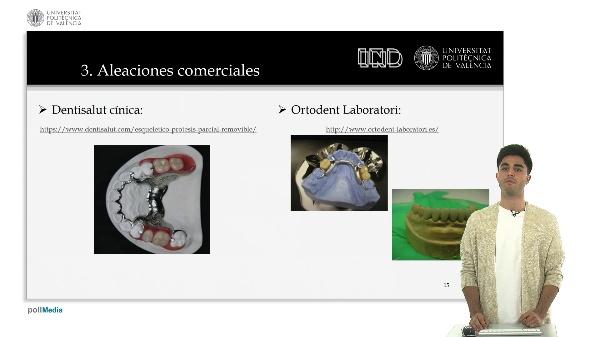Aleaciones nobles y seminales para prótesis dentales