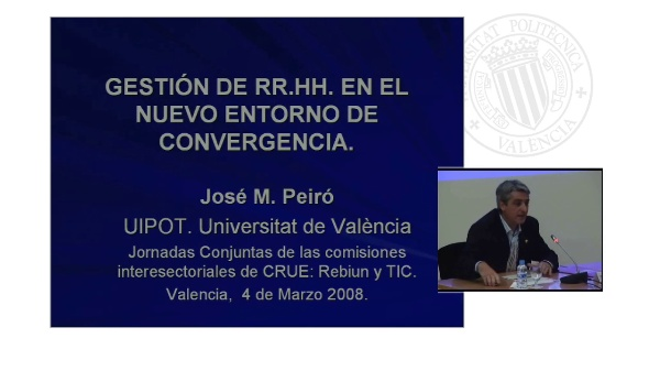 Ponencia 2. Gestión de los Recursos Humanos en el nuevo entorno de Convergencia