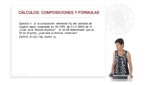 Cálculos:  composiciones y fórmulas (Ejercicios Prácticos)