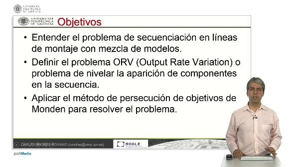 Secuenciación en líneas de montaje con mezcla de modelos - el problema ORV