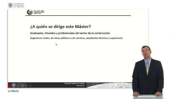 Máster Universitario en Planificación y Gestión en Ingenieria Civil