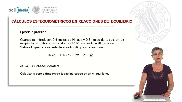 Cálculos estequimétricos en reacciones de equilibrio (ejercicio práctico)