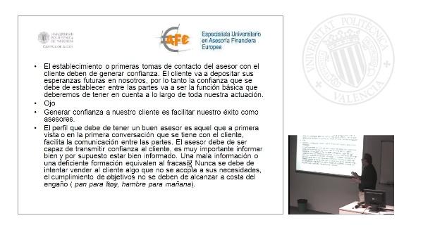 Asesoramiento y Planificación Financiera. Sesión Valencia.