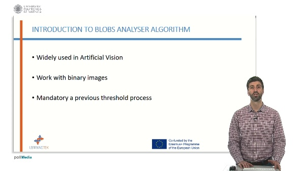 Region detection: Blobs and analyser