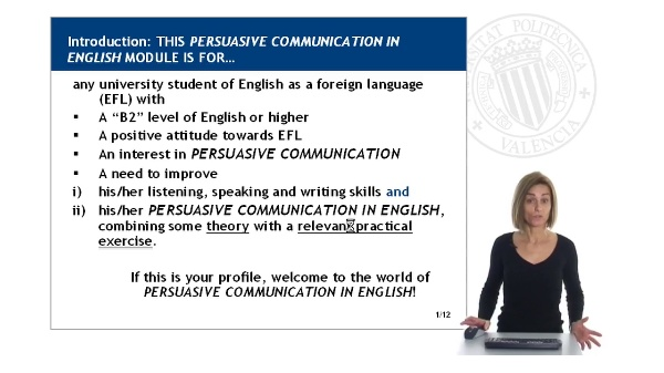 Persuasive Communication in English: MODULE