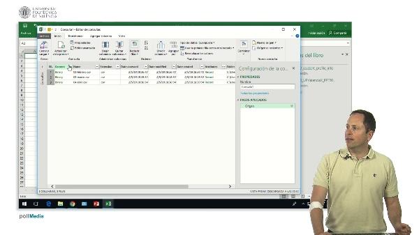 Excel. Power Query. Importar varios ficheros csv, filtrar datos, añadir columnas de fecha