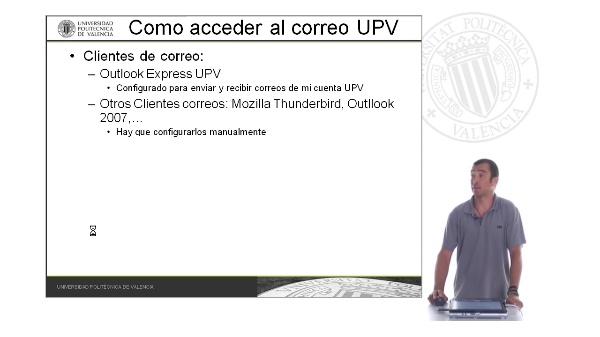 Configuración del correo UPV