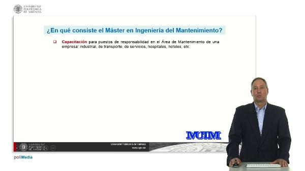 Máster Universitario en Ingeniería del Manteniemiento