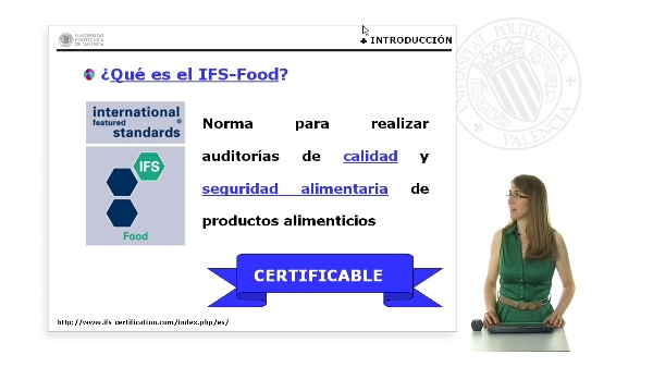 Introducción a la norma IFS - FOOD