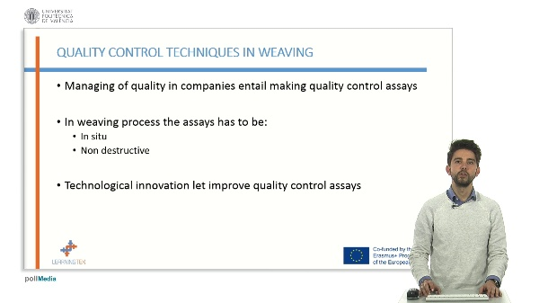 Main quality control systems: X-ray, ultrasounds and artificial vision