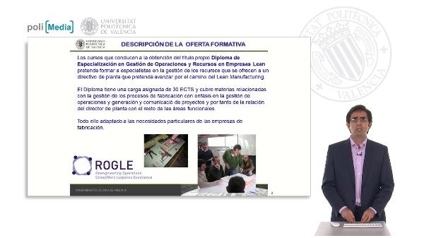 Diploma de Especialización en Gestión de Operaciones y Recursos en Empresas Lean