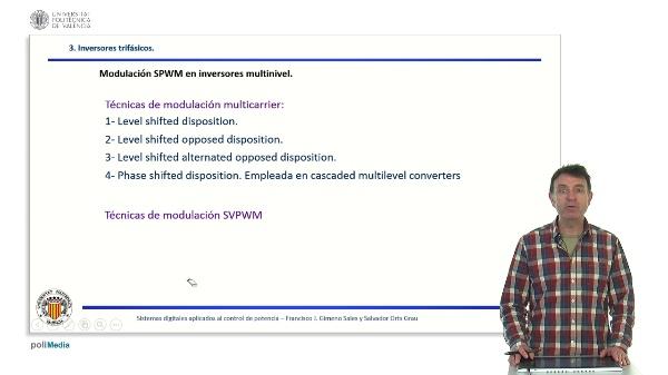 Modulación de inversores trifásicos multinivel.