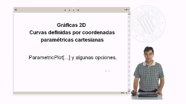 Gráficas 2D. Curvas en paramétricas con Mathematica