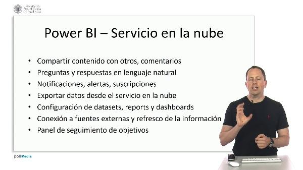 MOOC Power BI. Resumen módulo colaboración servicio en la nube