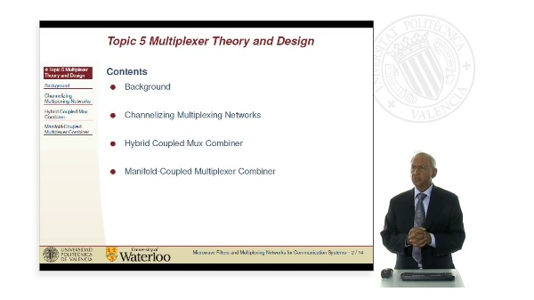 Microwave Filters for Communications Systems Topic 5. Multiplexer Theory and Design