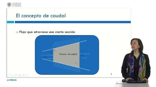 Cinemática de fluidos: Caudal-velocidad-aceleración. El teorema de arrastre de Reynolds