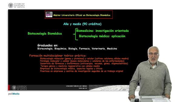 Master Universitario Oficial en Botecnologia Biomedica