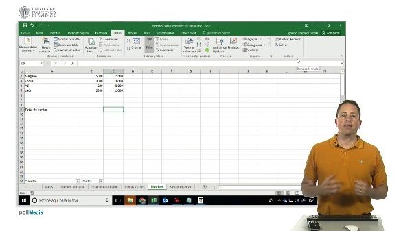 Excel. Introducción a las matrices en Excel.