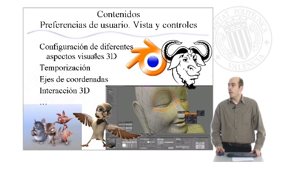 Preferencias de usuario. Vista y controles