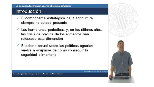 La seguridad alimentaria como objetivo estratégico